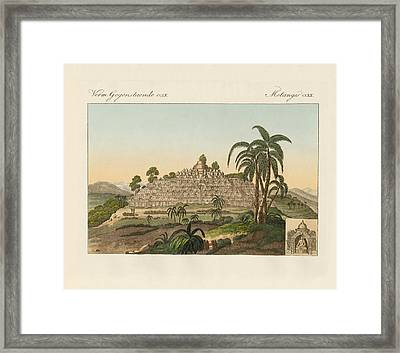 The Temple Of Buddha Of Borobudur In Java Framed Print by Splendid Art Prints