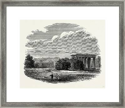 The Temple Of Concord, Audley End, Uk, England Framed Print