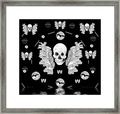 The Temple Of Skulls Framed Print by Pepita Selles