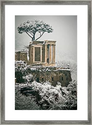 The Temple Of Vesta  Framed Print