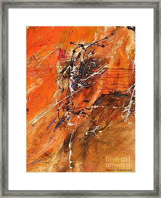 The Temptation -abstract Art Framed Print by Ismeta Gruenwald