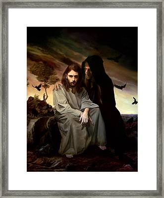 The Temptation Of Christ Framed Print by Eric  Armusik