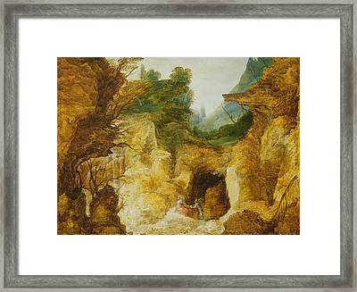 The Temptation Of Christ Framed Print by Joos or Josse de, The Younger Momper