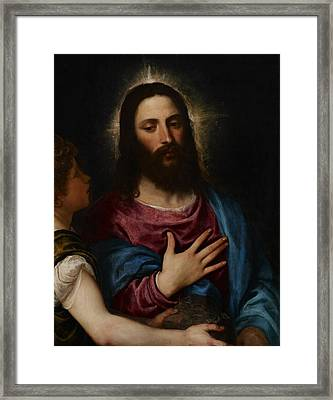The Temptation Of Christ Framed Print