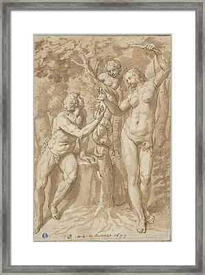 The Temptation Of Eve Framed Print