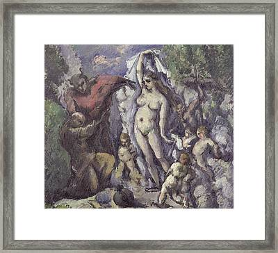The Temptation Of Saint Anthony Framed Print by Paul Cezanne