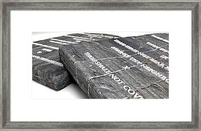 The Ten Commandments Framed Print by Allan Swart