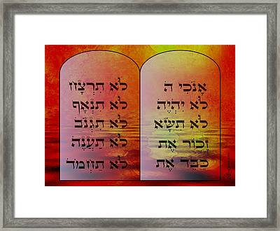 The Ten Commandments - Featured In Comfortable Art Group Framed Print by EricaMaxine  Price