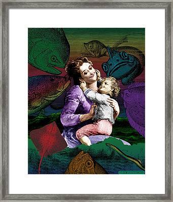 The Tender Refuge Framed Print