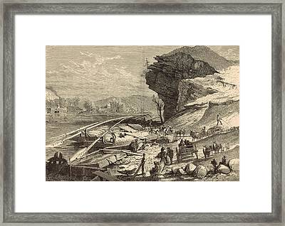 The Tennessee At Chattanooga 1872 Engraving Framed Print by Antique Engravings