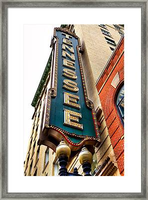 The Tennessee Theatre - Knoxville Tennessee Framed Print