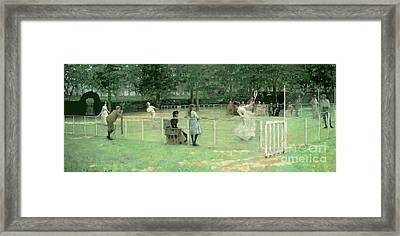 The Tennis Party Framed Print by Sir John Lavery