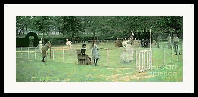 Lawn Tennis Framed Prints