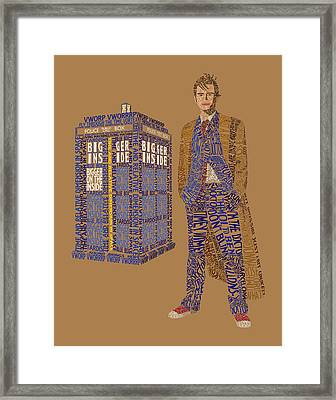 The Tenth Doctor Framed Print by Christina Fixemer