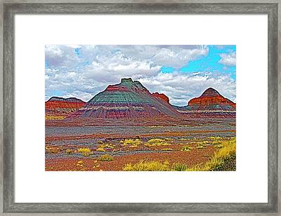 The Tepees In Petrified Forest National Park-arizona Framed Print