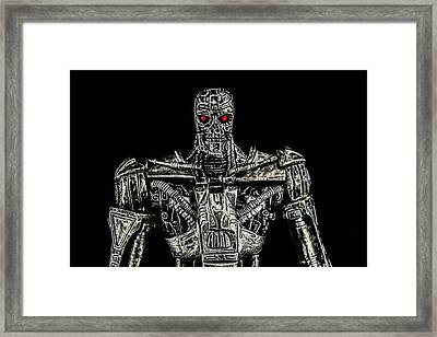The Terminator  Framed Print by Tommytechno Sweden
