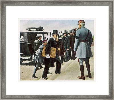 The Terms Of The Treaty Of  Versailles Framed Print by Mary Evans Picture Library