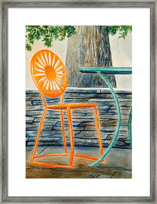 The Terrace Chair Framed Print