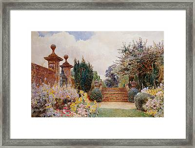 The Terrace Steps, Penshurst, 1903 Framed Print by George Samuel Elgood