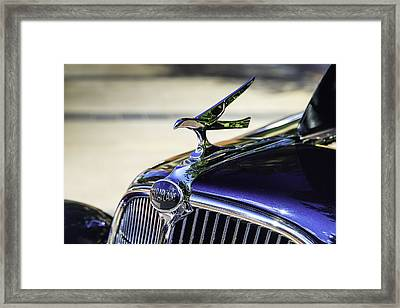 The Terraplane Hood Ornament Framed Print by Tim Stanley