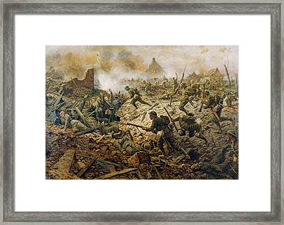 The Territorials At Pozieres On 23rd Framed Print by William Barnes Wollen