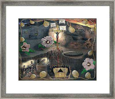 The Testimony Of Ron Wyatt - Ark Of The Covenant Framed Print by EBENLO Artist