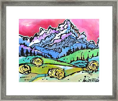 Framed Print featuring the painting The Tetons From Walton Ranch by Nicole Gaitan