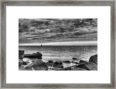 The Texture Of The Chesapeake Framed Print