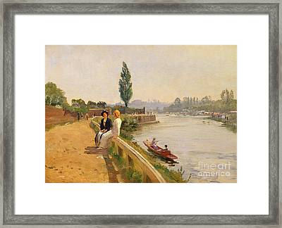 The Thames At Hampton Court Framed Print