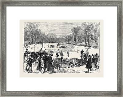The Thames Rowing Club Athletic Sports In Putney Park Framed Print