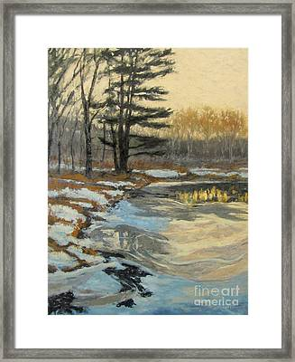 The Thawing Pond - Hudson Valley Framed Print by Gregory Arnett