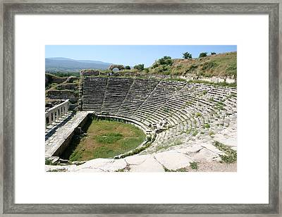 The Theater Aphrodisias Framed Print by Tracey Harrington-Simpson
