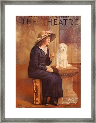 The Theatre 1910s Usa Dogs Magazines Framed Print by The Advertising Archives