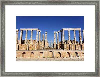 The Theatre At Leptis Magna In Libya Framed Print