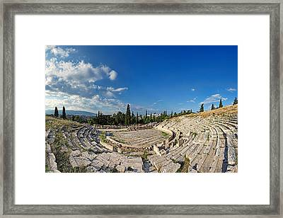 The Theatre Of Dionysos - Greece Framed Print by Constantinos Iliopoulos