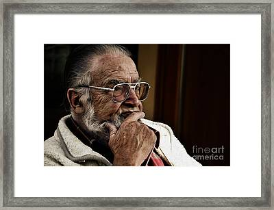 The Thinker Framed Print by Bruno Santoro