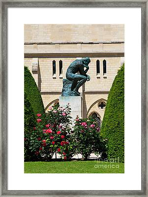 The Thinker By Auguste Rodin Framed Print by Louise Heusinkveld
