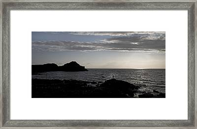 The Thinker -- Giant's Causeway --ireland Framed Print