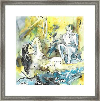 The Thinkers Framed Print by Miki De Goodaboom