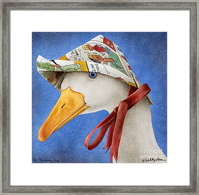 The Thinking Cap... Framed Print by Will Bullas