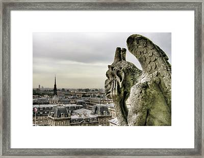 The Thinking Gargoyle Framed Print