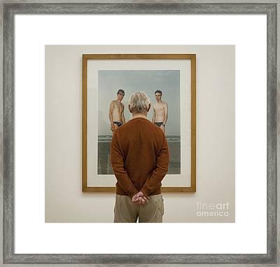 The Third Boy Framed Print by Michel Verhoef