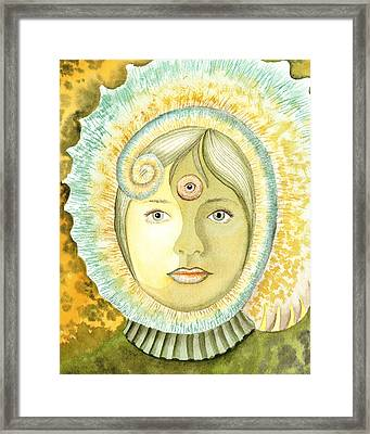 The Third Eye The Wise One Meditation Portrait Framed Print