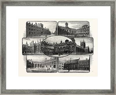 The Thirteenth And Fourteenth Century Colleges Of Oxford Framed Print