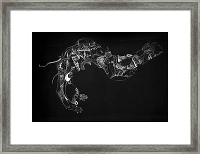 The Thought Framed Print by Guillermo De Llera