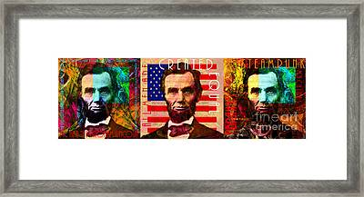The Three Abes 20140218 Framed Print by Wingsdomain Art and Photography