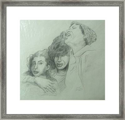 The Three Agonies Framed Print by Esther Newman-Cohen