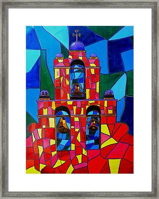 The Three Bells Of San Jose Mission Framed Print by Patti Schermerhorn