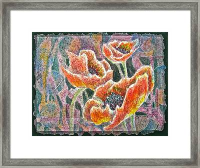 The Three Framed Print by Carolyn Rosenberger