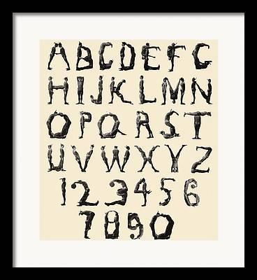 Letters Of The Alphabet Framed Prints